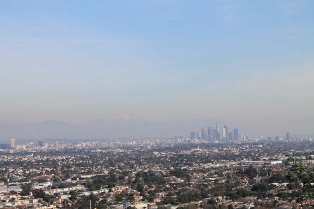 Downtown LA from Baldwin Hill Scenic Overlook