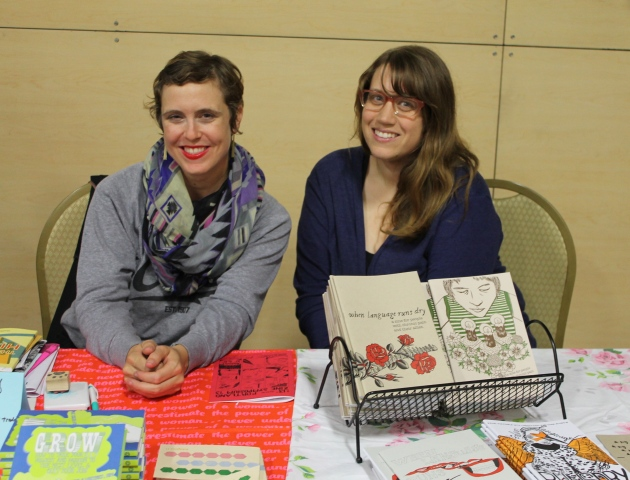 Sharing a table with Meredith at the Portland Zine Symposium!