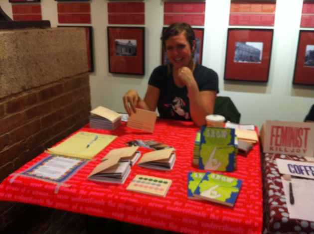Workin' the table at the Brooklyn Zine Fest