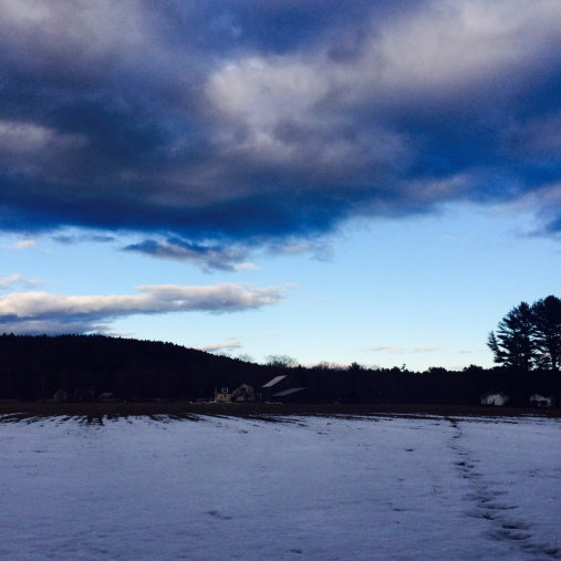 Maine winter sky