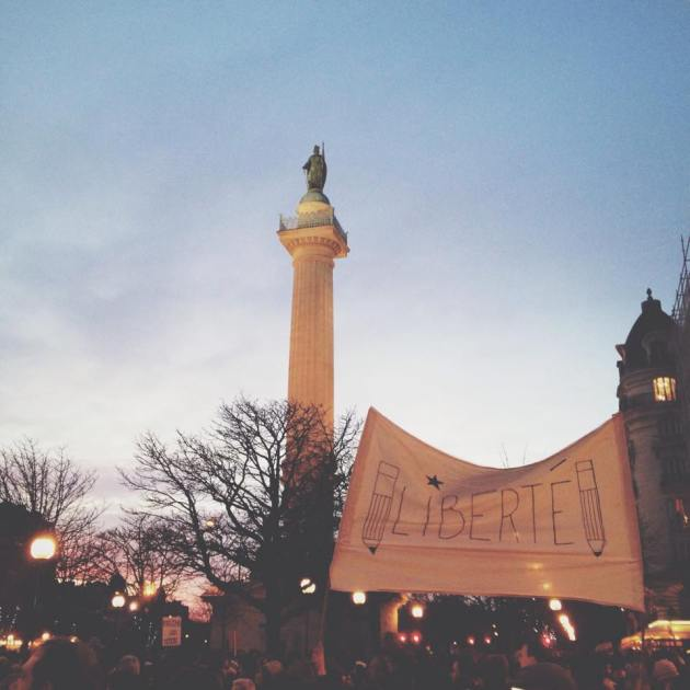 Photo by Amelie Nello, Place de Bastille 1/11/2015
